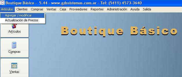 boutique basico menu articulos